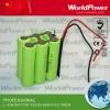 10.8V lithium battery pack for Led 4000mah/4400mah/5200mah