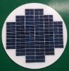 10W round solar panel
