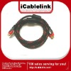 10ft HDMI 1.3V cable with nylon mesh&dual ferrite cores