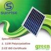 11W Poly solar panel