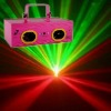 130mw double tunnels red and green party laser lighting