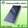 150W monocrystalline solar panels for home use