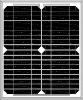 18V Mono Solar panel 15W