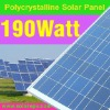 190W poly solar panels high efficiency for system