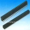 2.54 mm female header double row straight angle