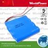 2000mAh medical instrument lithium battery pack 14.8V