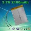 2100mAh 3.7v Rechargeable Lithium polymer Battery used for GPS