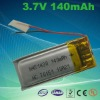 3.7v 140mAh Lithium rechargeable battery