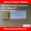 3.7v 1500mah lithium polymer digital rechargeable battery packs for camera