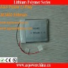 3.7v 500mah 303450 prismatic thin li-polymer rechargeable battery packs