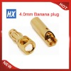 4.0 bullet plug with gap Ma&Fe Golden plated connector