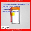 422040 3.7v 280mah thin li-ion polymer rechargeable digital batteries