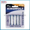 4pc AA alkaline battery