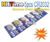 50set(5Pcs/set) CR2032 CR-2032 Lithium Button Coin Batteries 3V Free Shipping Hittime