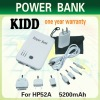 5200mAh power bank for iPad, iPhone and other brand mobile phones