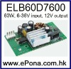 6-36VDC wide input 60W LCD Power Supply