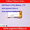602040 3.7v 460mah li-polymer rechargeable digital battery packs