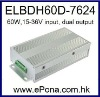 60W Dual output DC DC power supply
