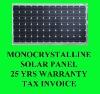 65 Watt Monocrystalline Solar Panel Module 12V
