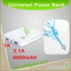 6600mAh 2.1A Power Bank for iPhone 4S-M66L