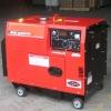 6KW handle/wheel type air cooled 4 stroke electric power diesel generator