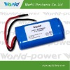 7.4 v 6600mAh 18650 Rechargeable lithium ion battery pack