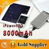 8000mAh ipower pro portable battery charger power bank with USB output