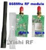 868 Mhz RF module, wireless data module, wireless transmitter for RS485/RS232/TTL cable free!