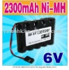 AA Ni-MH 2300mAh 6-Cell 6V Rechargeable Battery Pack