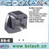 Adaptor Plug/two-pin plug SS-6 Black