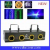 Blue,yellow,red and green four lens four color laser party light
