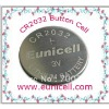 CR2032 button cell battery,CR2032 3V lithium coin cell battery