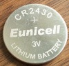 CR2430 battery,3V Lithium button cell batteries CR2430(Eunicell brand)