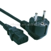 Cable with plugs R/A plug Euro power cable 16A