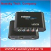Component Video (YPbPr)  TO HDMI Video converter with low price and good quality (NS-354)