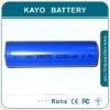 Cylindrical Lithium Ion Battery, rechargeable 18650 battery