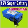 DC 12V 18000mAh Super Rechargeable Lithium-ion Battery