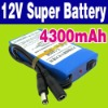 DC 12V 4300mAh Lithium-ion 12 Volt Battery