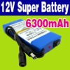 DC 12V 6300mAh DC Li-ion Battery