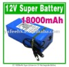 DC 18000mAh Super Lithium-ion 12V  Rechargeable Battery