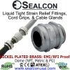 EMI/RFI Proof Nickel Plated Brass Cable Glands for use in Hazardous Locations