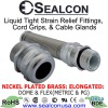 Elongated Nickel Plated Brass: Strain Relief Fittings