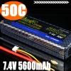 Factory Price Wholesales TIGER Lipo Battery 5600mah 50C 7.4v Hard Case 2S