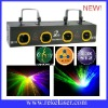Four lens blue,yellow,red and green dj disco laser lighting