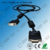 High definition 28AWG wire rgb vga cable with two magnet rings