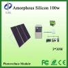 Hot 100 W no framework amorphous silicon thin film components