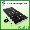 Hot 100 W no framework amorphous silicon thin film polycrystalline photovoltaic module