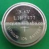 LIR2477 3.6V li-ion button cell