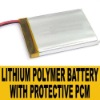 Li-Po Lithium Polymer Battery 3.7V 2000mAh for PMP/GPS