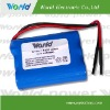 Li-ion 18650 11.1V 4800mAh rechargeable battery pack with PCB Protection Bare Leads